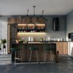 Aranżacja kuchni - drewniana zabudowa kuchenna