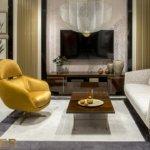kler - aranżacja salonu z fotelem