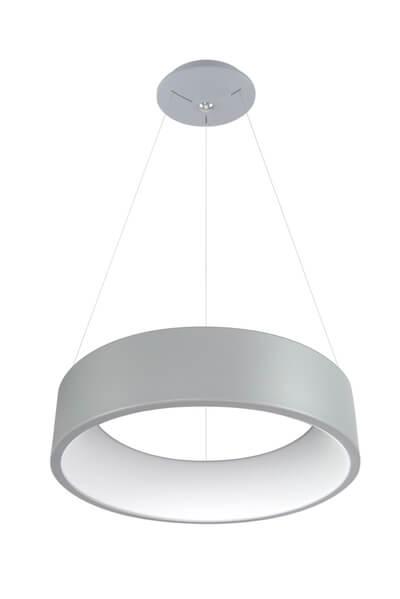 Lampa wisząca Anello - szara - okrągła