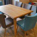 Drewniany, prostokątny stół do jadalni