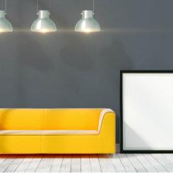 Szare panele podłogowe w sypialni