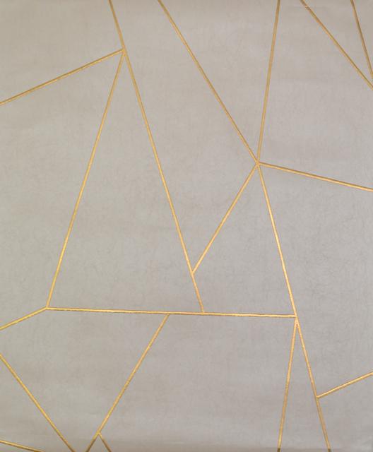 tapeta beton szary ze złotem