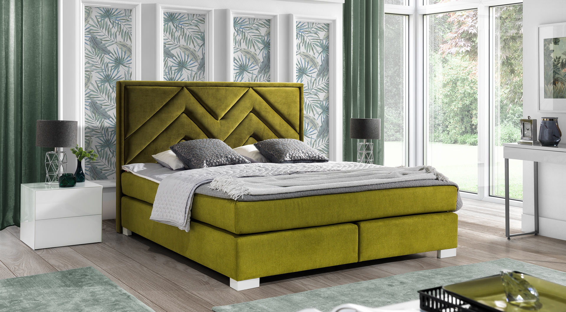 łóżko Kontynentalne 403 New Elegance Galeria Wnętrz Domar