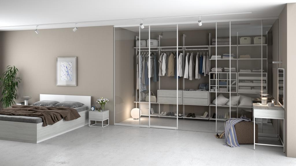 Garderoba Połączona Z Sypialnią Galeria Wnętrz Domar