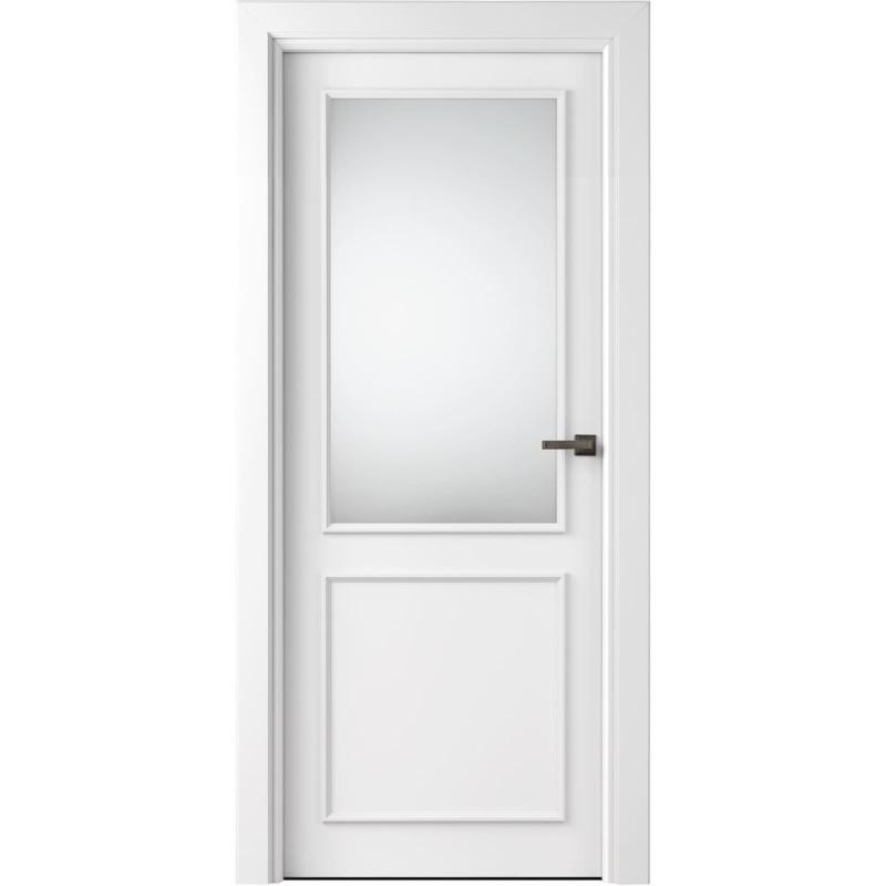 białe drzwi profilowane