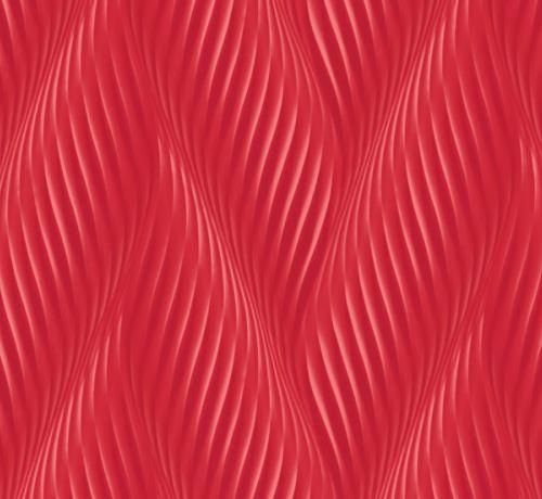 czerwona, winylowa tapeta z efektem 3D