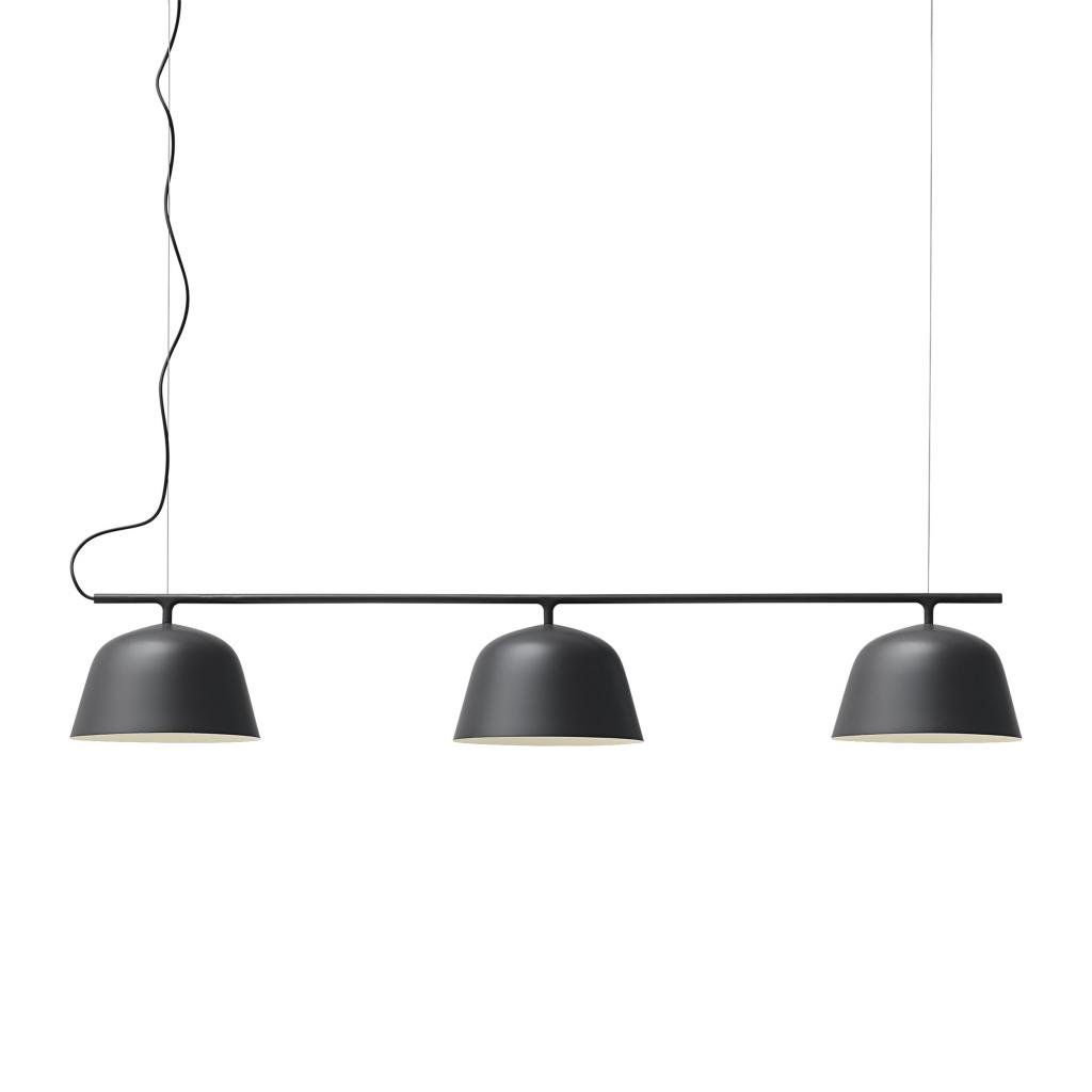 czarna, wisząca lampa sufitowa