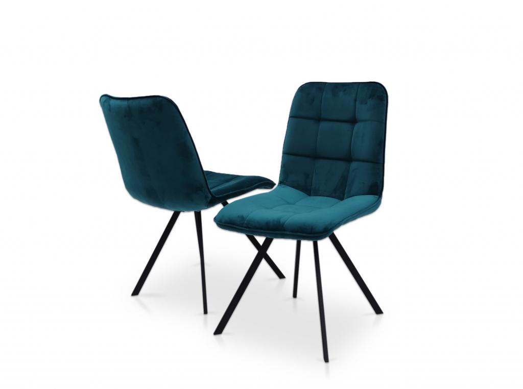 krzesło TC K-09 B na metalowych, czarnych nogach