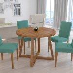 okrągły, drewniany stół Fado