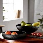 czarne, eleganckie misy na owoce