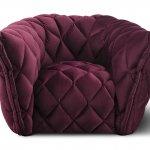 nowoczesny, burgundowy fotel