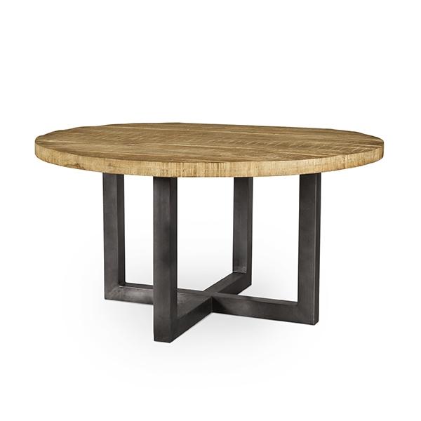 okrągły, drewniany stolik do jadalani Kenzo