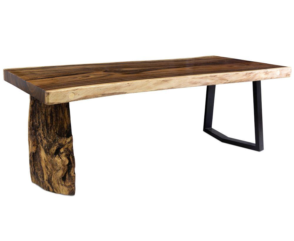 Stół z drewna suar na korzeniu